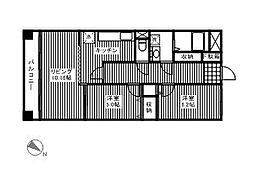 ソシアプラザ[3階]の間取り