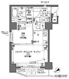 ZOOM横浜[901号室]の間取り