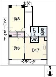 三幸マンション[1階]の間取り