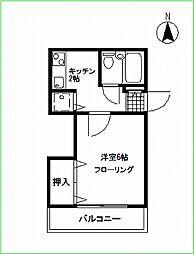 シャトー妙蓮寺[105号室号室]の間取り