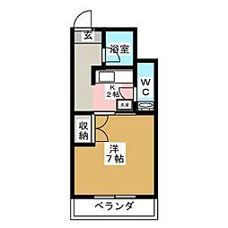 エクセレントハイツ[4階]の間取り