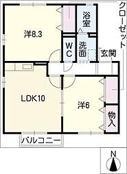 グリーンハウス和合[2階]の間取り