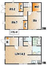 [タウンハウス] 福岡県北九州市門司区西新町1丁目 の賃貸【/】の間取り
