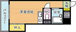 福岡県北九州市小倉北区東篠崎1の賃貸マンションの間取り