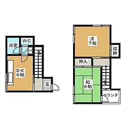 古川アパート[1階]の間取り