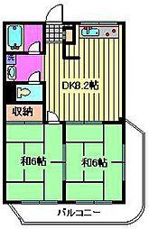 河本ビル[306号室]の間取り