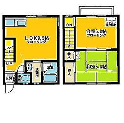 [テラスハウス] 神奈川県相模原市中央区上溝 の賃貸【神奈川県 / 相模原市中央区】の間取り