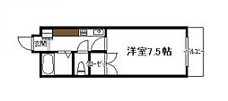 ベルトピア宮崎4[603号号室]の間取り