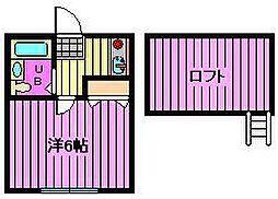 埼玉県さいたま市桜区田島4丁目の賃貸アパートの間取り