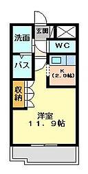 イーストピア TSUKUBA[201号室号室]の間取り