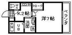 ロワールHINENO[1階]の間取り