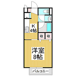 アルペン並柳A棟[2階]の間取り