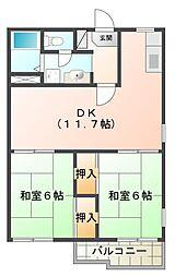兵庫県神戸市垂水区野田通の賃貸アパートの間取り
