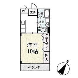 プレステージ明下 2階[203号室]の間取り