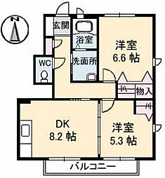 モンプレジール 3[108号室]の間取り