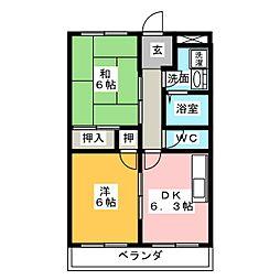 上ノ山ハイツIII[2階]の間取り