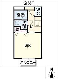 下東野コーポ I[2階]の間取り