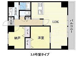 JR阪和線 和泉府中駅 徒歩5分の賃貸マンション 6階1SLDKの間取り