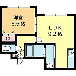北海道札幌市北区北二十七条西2丁目の賃貸マンションの間取り