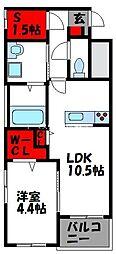 仮)アヴァンセ志免町 1階1SLDKの間取り