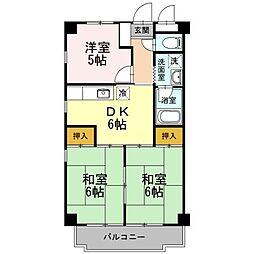 ロイヤルハウス喜多山[3階]の間取り