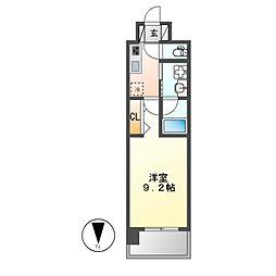 レジデンシア名駅南[7階]の間取り