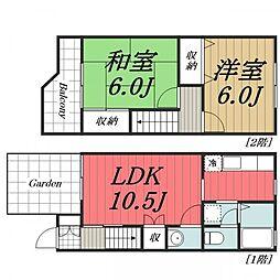 [テラスハウス] 千葉県四街道市美しが丘1丁目 の賃貸【/】の間取り