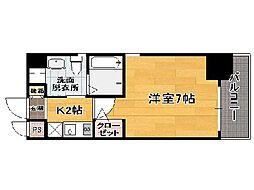 福岡県福岡市中央区港1丁目の賃貸マンションの間取り