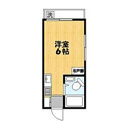 平田コーポ[203号室]の間取り