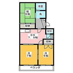 コーポトマトIII[3階]の間取り