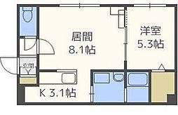 グランメールNJ.1[3階]の間取り