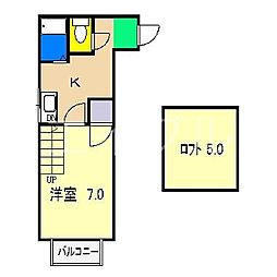 シティコート相模[1階]の間取り