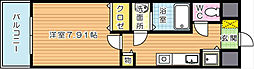 グランドツイン黒崎 B棟[7階]の間取り