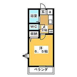 ヴィブレ浅井[1階]の間取り