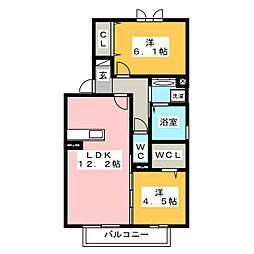 WIT日向[2階]の間取り