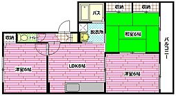広島県安芸郡海田町寺迫1丁目の賃貸アパートの間取り