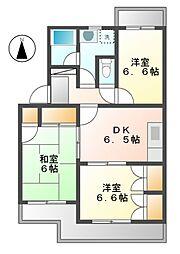 アヴェニールK・F[4階]の間取り