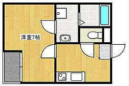 クレフラスト新浜松駅西[202号室]の間取り