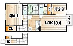 仮)D-room日明II[2階]の間取り