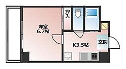 MIYABI(RH) 3階1Kの間取り