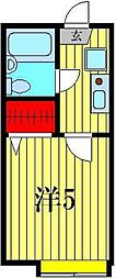 ヒルトップ五香[1階]の間取り