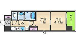 ビガーポリス346京橋II 8階1DKの間取り