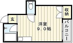 大阪府大阪市生野区田島2丁目の賃貸マンションの間取り