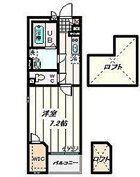 埼玉県さいたま市南区鹿手袋5丁目の賃貸マンションの間取り