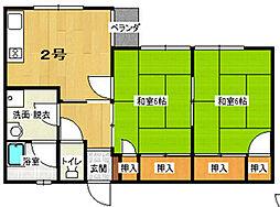 増田ビル[302号室]の間取り
