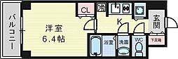 大阪府吹田市広芝町の賃貸マンションの間取り