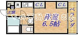 大阪府大阪市城東区今福西4丁目の賃貸マンションの間取り