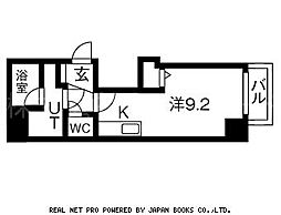 北海道札幌市中央区南一条西16丁目の賃貸マンションの間取り