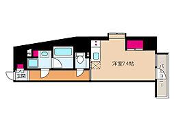 JR東海道・山陽本線 摩耶駅 徒歩9分の賃貸マンション 8階ワンルームの間取り