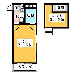 リージェント千代田[2階]の間取り